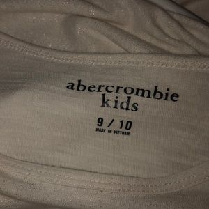 abercrombie kids Shirts & Tops - White long sleeve